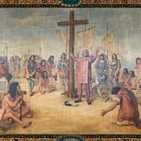 Columbus Coming Ashore