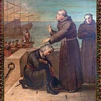 Father Perez Blesses Columbus