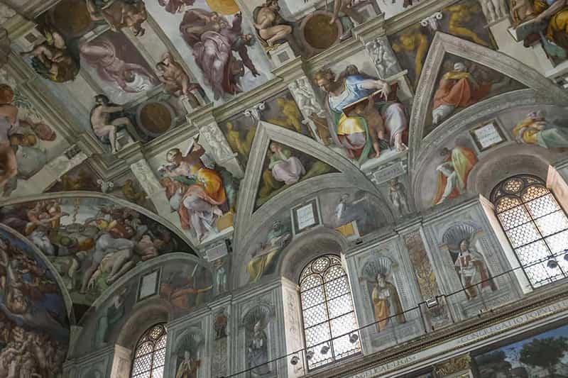 Ceiling of the Sistine Chapel.