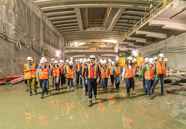 Students tour the East Side Access Project